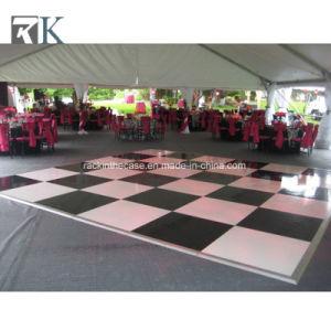 Populares en Blanco y Negro pista de baile para la boda la decoración de eventos
