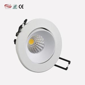 O ponto de luzes antiofuscante ajustável do diodo emissor de luz ilumina Downlights com dispositivo elétrico de Trimless para o quarto de convidado