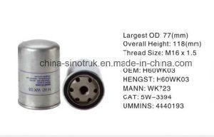 Сотрудников категории специалистов высокого качества питания оригинальный фильтр для воды воздушные фильтры масляные фильтры топливный фильтр для Hengst H60wk03