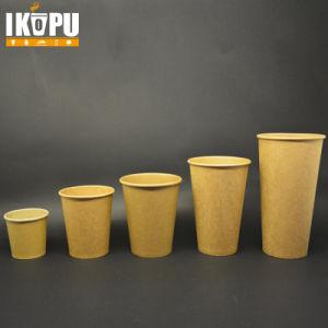Качество Preium горячей одноразовые крафт-бумаги чашки кофе с втулкой