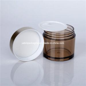 Skincareのための装飾的な円形100gのプラスチック瓶