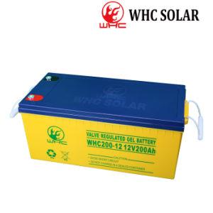 Cycle de profonde 12V 200Ah batterie gel de plomb pour la mise au rebut de la batterie du système solaire