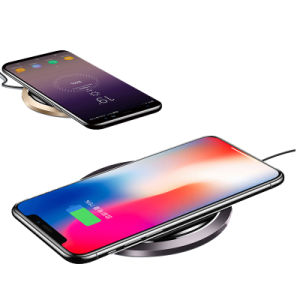 Escritorio Universal Qi Teléfono móvil de carga rápida para el iPhone cargador inalámbrico Wireless y Smart Phone