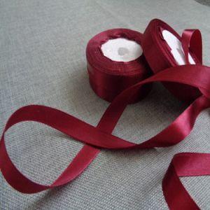 Rote Farben-Polyester-Satin-Farbband 100% für das Geschenk-Verpacken