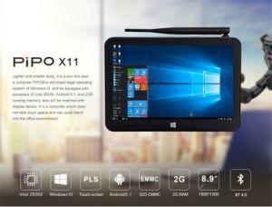 Intelligenter Mini-PC Pipo X11 Z8350 mit androidem 5.1/Win 10