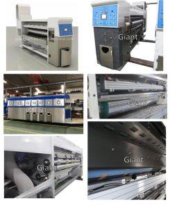 Flexo Printer Slotter Die Cutter & Gluer Carpeta de cartón corrugado Máquina grapadora