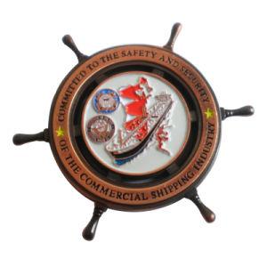Qualitäts-kundenspezifische Form-Zink-Legierungs-Schwarz-Decklack-Metallmünze (069)