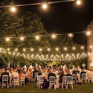 Hochzeitsfest-Garten-Yard-Dekoration-feenhaftes Zeichenkette-Licht