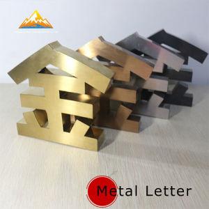 De Brieven van het roestvrij staal voor Teken van de Brief van de Reclame van het Metaal van de Merknaam het Grote
