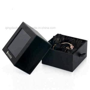 عالة رف أسود دكان مجوهرات ورق مقوّى [جفت بوإكس] مع واضحة [بفك] نافذة
