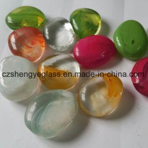 Jardín decorativo Color microesferas de vidrio redonda plana