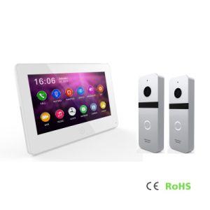 HDのメモリビデオドアの電話通話装置7インチのタッチ画面のホームセキュリティーの