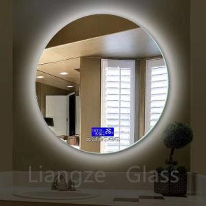La mode miroir de maquillage éclairé étanche décoratif mural salle de bain miroir avec voyant LED