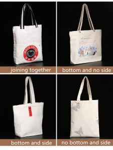 Puro algodón natural lienzo personalizado Bolso plegable Reusabe sobreimpresión
