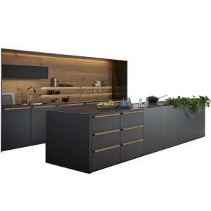 Australiano Cbmmart MDF standard duplo de alto brilho Pistolagem de armário de cozinha moderna