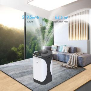 Purificateur d'air HEPA Stage H13 portable rechargeable commercial avec bambou Filtre à charbon télécommande UV ioniseur Air Cleaner pour l'Europe Virus de l'hôpital