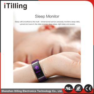 La frecuencia cardíaca Tensiómetro Producto Bt4.0 Salud Fitness ver la pantalla en color de la banda de Smart Fitness Tracker