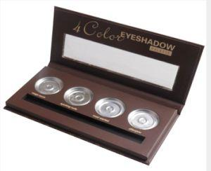 Concha de almeja ventana abierta con cuatro orificios y más envases cosméticos Eyeshadow Brush caso maquillaje Caja de papel