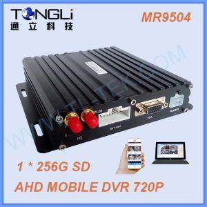 Preiswertes Ahd 3G/4G/WiFi bewegliches DVR mit der 2 Ableiter-Karte 4CH 720p bewegliches DVR