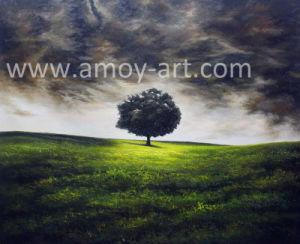 Faca de paisagem árvore pinturas a óleo Óleo pesado e efeito textural