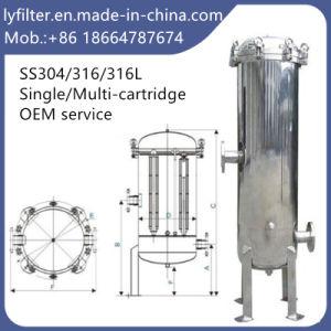 Custodia di filtro industriale della cartuccia dell'acqua dell'acciaio inossidabile