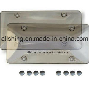 Cubierta del blindaje de la matrícula de la burbuja del coche con los casquillos de tornillos que corresponden con