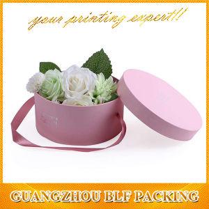 Hat boîtes de papier cadeau Fleurs rondes (FLO-go107)