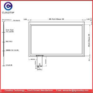 Ontworpen Capacitieve Fabriek 17.3 van het Comité van het Scherm van de Aanraking  Touchscreen van het 16:9 USB