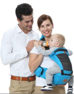 Venda por grosso de poliéster portátil Preto transportadora do bebé para 3-18 meses