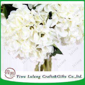 La décoration de fleurs à tige unique de la soie artificielle de la vision de gros de fleurs de l'hortensia