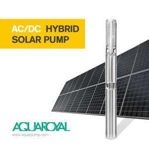 AC/DC hybrider Solarmaximaler maximaler Kopf der wasser-Pumpen-4sp5/15 des Fluss-10.2m3 170m Selbst-AC/DC
