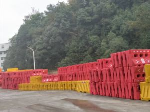 Auto-estrada a segurança rodoviária 1500mm de água cheio de barreira de Nova Jersey