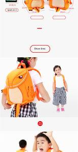 i sacchetti di banco dei bambini degli animali 3D impermeabilizzano il Escolar di Mochila dei sacchetti del bambino dei capretti del banco dello zaino dei capretti del fumetto