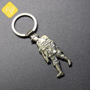 Comercio al por mayor impresión impresos personalizados Llavero de metal chapado en muestras