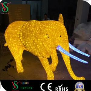 Decoración de Navidad Parque Temático Animal la escultura de luz elefante
