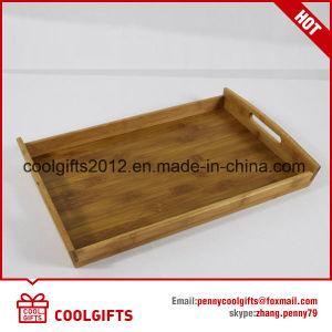 Plaque de bambou ronde de haute qualité de la plaque en bois avec une taille différente