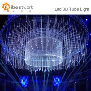 DMX largo tubo de luz multicolor de LED 3D Barra de luz de noche