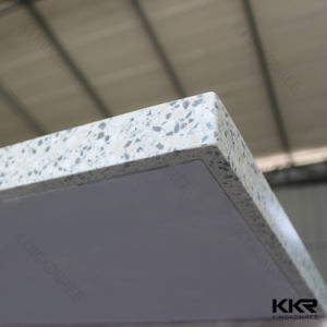 Kingkonreeの正方形の固体表面の黒いレストラン表