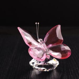 Casamento grossista Favor Crystal Butterfly Figurine para decoração (KS28020)
