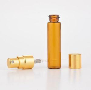 10ml frasco de perfume de cristal transparente de viaje portátil botellas de Spray pulverizador de perfume Contenedor de cosméticos