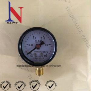 40mm Individal Caixa de aço de embalagem o medidor de pressão do tubo de tipo C
