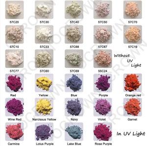 De fotochromische UVVerandering van de Kleur van het Poeder in het Pigment van het Zonlicht voor Stof