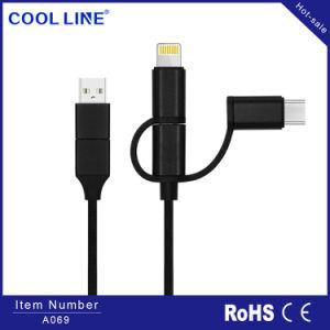 5 em 1 cabo USB, cabo de dados de carregamento rápido, cabo Micro USB Universal, relâmpagos, Cabo de cabo do tipo C, iPhone e Android Market, tudo em um único cabo USB