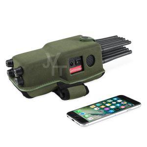 Hete Verkopende Draagbare 12 Banden allen in Één GPS WiFi rf van de Stoorzender van het Signaal Cellphone Stoorzender van het Signaal