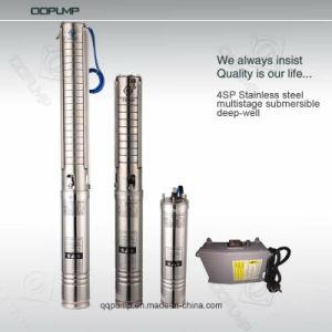 4pouces acier 0.5Hpstainless pompe submersible à plusieurs degrés.