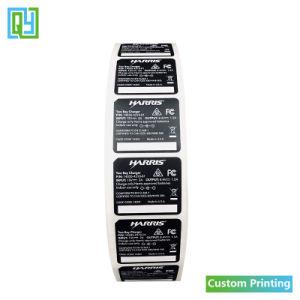 La impresión personalizada de Vinilo adhesivo impermeable de PVC Pet Etiqueta para batería cargador de móvil