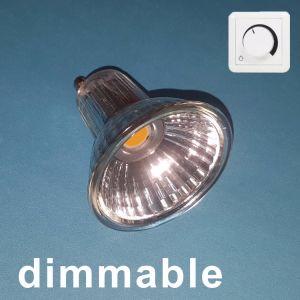 Intensidade da Luz do Refletor LED GU10 COB 5W com reflector