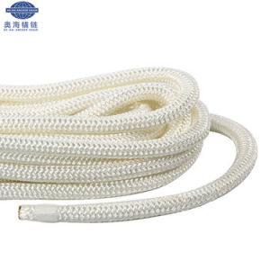 ポリプロピレンのマルチフィラメントの係留ロープの中国の沖合いの二重編みこみの製造者
