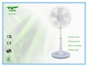 韓国の熱いSaling高さの調節可能なABS物質的な立場表ファンが付いている14インチの机のファン
