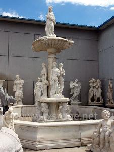 De openlucht Fontein van het Water van de Steen voor de Decoratie van de Tuin